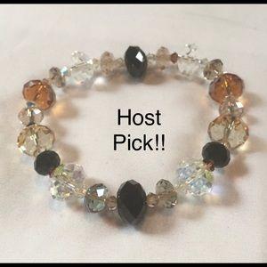 Jewelry - 🎉Host Pick🎉Vintage Glass Crystal Bracelet